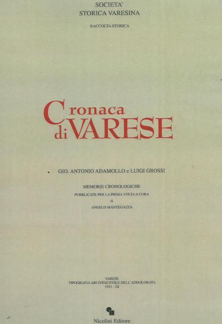 Gio. Antonio Adamollo, Luigi Grossi, Cronaca di Varese, 1998