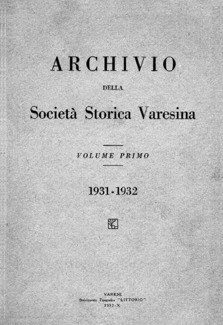 Volume primo